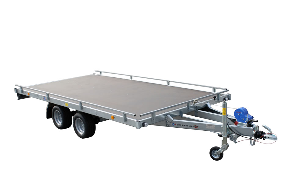Trailer for cars with railing – basic version