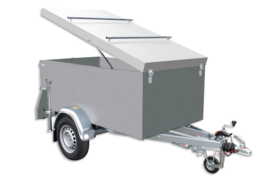 Trailer EU2 box with overrun brake