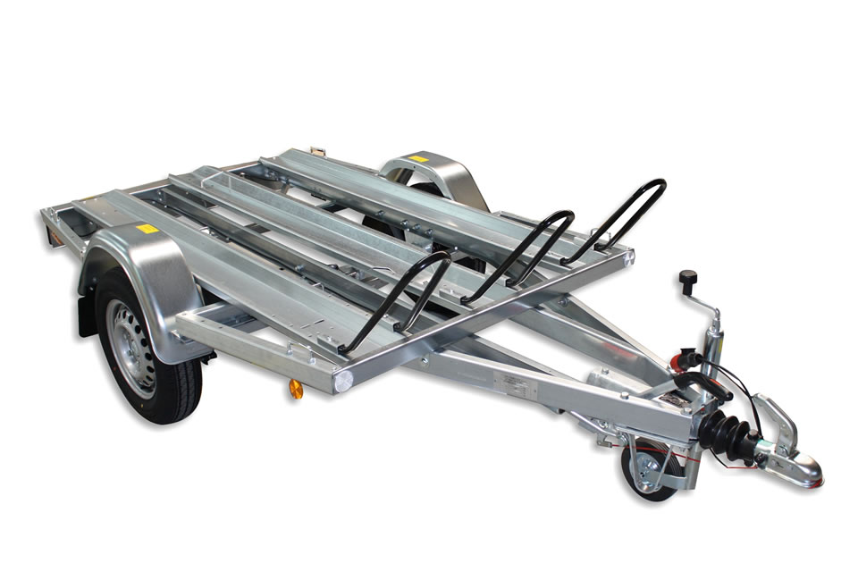 Motorcycle trailers MB2 with overrun brake