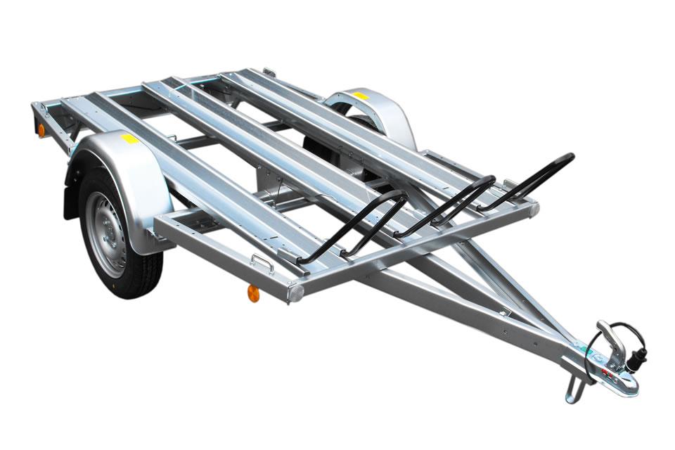 Prikolice za prevoz motorjev MU2 brez naletne zavore